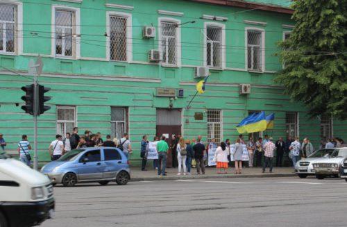 Мітинг перед Жовтневим судом