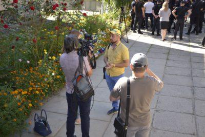 Сергей Ряполов дает интервью